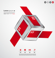 Modern cube long infographic banners vector image