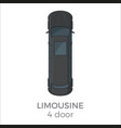 limousine top view flat icon vector image
