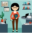 Business Woman in the style flat design vector image