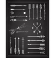 Hand Drawn Arrows on Chalkboard Design vector image