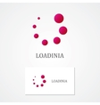 Abstract loading logo with business card template vector image