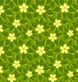 tropical pattern green leafs vector image vector image