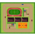 Aerial view of sporting facility vector image
