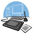 digital graphic tablet vector image vector image