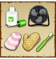 Objects set of the office personal hygiene vector image