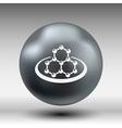 icon molecular research chemistry medicine vector image