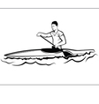 Man in a kayak vector image