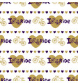 stylish hand drawn seamless pattern with bikes vector image