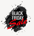 black friday grunge style banner design vector image