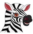 Cute Zebra head cartoon vector image vector image
