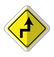 traffic signal information with arrow icon vector image vector image