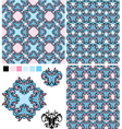 set of seamless patterns - floral ornaments and el vector image vector image