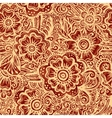 Hand-drawn floral seamless pattern in Indian vector image