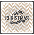 merry christmas vintage chevron vector image vector image