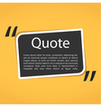 Text Box with Quotes vector image vector image
