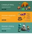 Climbing interactive 3d banners set vector image