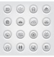 Button Design Business Icons Set vector image
