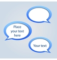 Abstract web design background with speech bubbles vector image