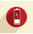discharged battery vector image