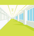 interior of school hall with yellow floor windows vector image