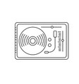 line turntable to listen and play music vector image