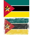 Mozambique grunge flag Grunge effect can be vector image