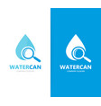 oil and loupe logo combination drop and vector image