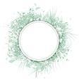 Palm Leaf Frame vector image