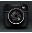 professional photo camera icon vector image