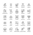 project management line icons vector image