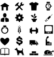 Set icons for web mobile and other design vector image