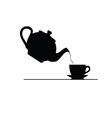 tea icon silhouette vector image