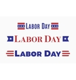 Labor day Holiday in United States of America vector image
