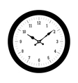 Clock on white vector image vector image