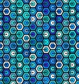 Seamless geometric pattern with hexagons vector image vector image