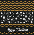 merry christmas lettering decoration card design vector image