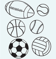 Collection sports balls vector image vector image