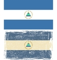 Nicaraguan grunge flag  Grunge effect can be vector image vector image