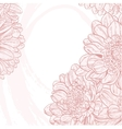 Line drawings pink chrysanthemum on white grunge vector image vector image