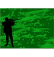 hunter on the camouflage background vector image