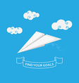 origami plane life success concept vector image