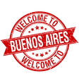 welcome to Buenos Aires red round ribbon stamp vector image