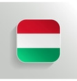 Button - Hungary Flag Icon vector image