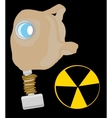Gas mask and sign radiation vector image