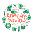 green energy saving concept vector image