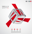Modern cube origami banners vector image