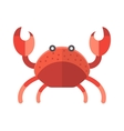 Ocean animal design of cute cartoon crab funny vector image