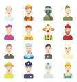 Profession icons set flat style vector image