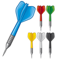 Set of darts vector image