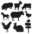 Set of farm animals isolated on a white background vector image